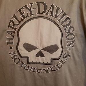 Harley-Davidson Shirts - Harley Davidson casual button short sleeve shirt